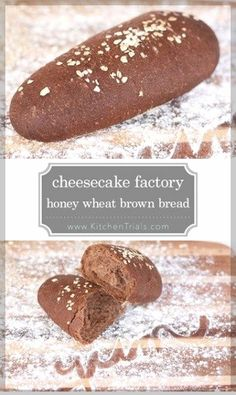 The Cheesecake Factory honey wheat brown bread recipe. Spot on copycat recipe, it's incredible! This is seriously the best bread ever! The Cheesecake Factory, Bread Machine Recipes, Easy Bread Recipes, Honey Recipes, Squaw Bread Recipe For Bread Machine, Artisan Bread Recipes, Kraft Recipes, Quick Bread, Bread And Pastries