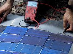 DIY SOLAR PHOTOVOLTAIC $1 a watt DIY Solar Panel Part 2 Make your own solar cell panel Bus Wire