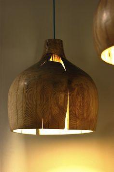 wooden gourd pendant