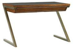 Harborview Leather-Top Desk, Chocolate