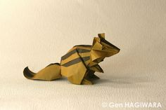 Origami Chipmunk by GEN-H on DeviantArt