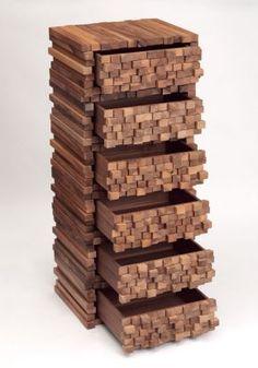 Wooden Heap, drawer unit
