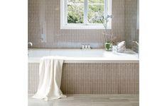Understated Roku Walker Zanger, Mediterranean Homes, Dining Room Walls, Home Spa, Stone Mosaic, Large Homes, Mid Century Modern Design, Elegant Homes, Small Bathroom