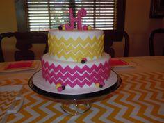 Hartley's chevron birthday cake