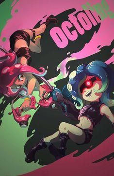 Nintendo Splatoon, Splatoon 2 Art, Splatoon Comics, Callie And Marie, Kid Memes, Sanrio Characters, Funny Games, Anime, Fanart