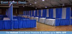 Event Decor Direct's Banjo Cloth Drapes are perfect for commercial decorators that require affordable and flame resistant drapes for large commercial events! Banjo Cloth Drapes are best used for booths and back wall designs in trade shows and convention centers. Available in a wide variety of lengths and colors with Free Shipping options! Shop Now at EventDecorDirect.com