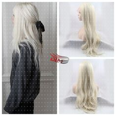 (43.00$)  Buy here  - #613 /Blonde Fashion Color Lace Front Brazilian Body Wave Hair Glueless Synthetic Lace Front Loose Wave Wig Heat Resistant Hair