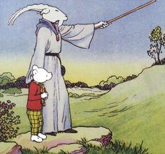 Rupert Bear and Wise Goat