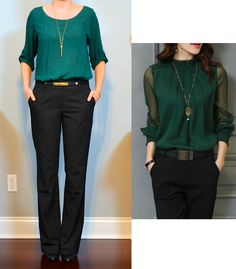 b917f2329c34f5 26 Best green blouse outfit images