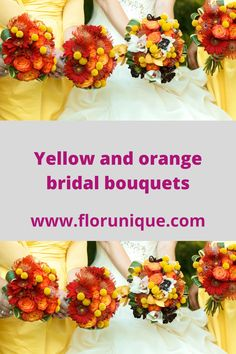 Orange Wedding Flowers, Bouquet, Bridal, Bride, Bunch Of Flowers, Bouquets, Brides, The Bride
