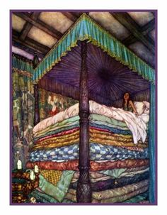 THE Princess AND THE PEA BY Edmund Dulac Counted Cross Stitch Chart | eBay