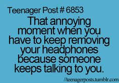 I just keep them in and stare at the person talking and pretend I'm listening, unless it's my parents of course :)