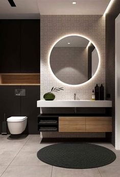 I remodel my bathroom and this mirror was the icing and the cake. A combination of class and practicality make this mirror a must buy. Dream Bathrooms, Bathroom Toilets, Laundry In Bathroom, Washroom, Basement Bathroom, Small Bathroom, 70s Home Decor, Diy Apartment Decor, Asian Home Decor