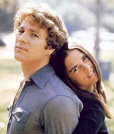 Then......Ryan O'Neal and Ali MacGraw in a still from the film, 'Love Story,' 1970.