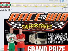Hunt Brothers Pizza Race to Win Sweepstakes