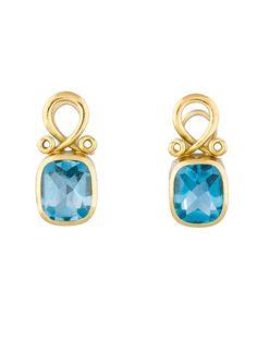 Blue Topaz Clip-On Earrings