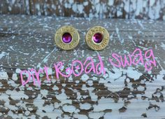 Bullet+Stud+Earrings+by+DirtRoadSwag+on+Etsy,+$15.00