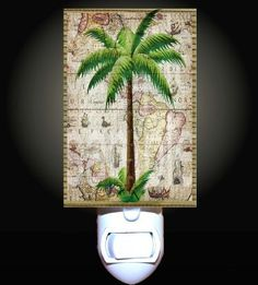 Classic Palm Tree Decorative Night Light by Decoration Sensation