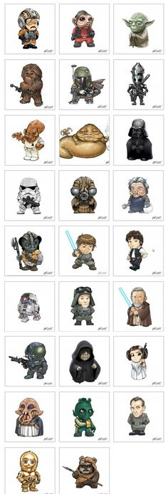 Can I just go ahead and get them all on one leg??!! Chibi StarWars