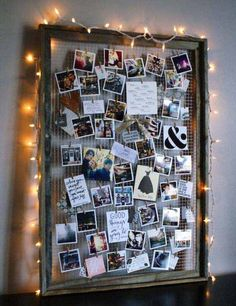 DIY Ideas With Old Picture Frames - DIY Inspiration Mood Board - Cool Crafts To Make With A Repurposed Picture Frame - Cheap Do It Yourself Gifts and Home Decor on A Budget - Fun Ideas for Decorating Your House and Room Decoration Photo, Soft Board Decoration, Decoration Pictures, Old Picture Frames, Picture Frame Collages, Picture Collage Board, Homemade Picture Frames, Polaroid Picture Frame, Photo Collage Gift