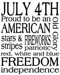 Love it but I think it should be Red White and Blue! :)