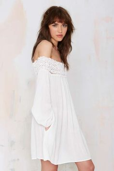 Margaritaville Off-the-Shoulder Dress - White - LWD | Day | Clothes | All | Off The Shoulder | Bohemian Rhapsody