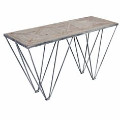 angelo:HOME Chelsea Road Wood and Metal Sofa Table