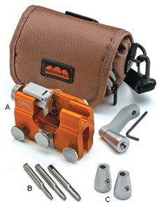 Hand-Crank Chain-Saw Sharpener - Woodworking Chainsaw Repair, Chainsaw Mill, Stihl Chainsaw, Chainsaw Chains, Chainsaw Sharpening Tools, Chainsaw Chain Sharpener, Cool Tools, Diy Tools, Chainsaw Accessories