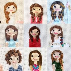 Cross stitch people detail ideas