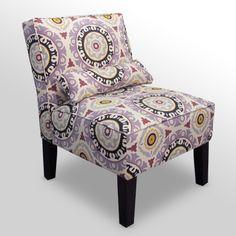 Solar Flair Lilac Armless Accent Chair