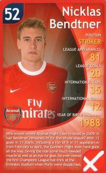 2011 Top Trumps Specials Arsenal #NNO Nicklas Bendtner Front