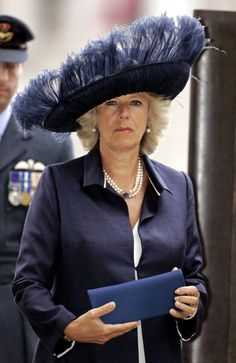 Camilla, Duchess of Cornwall, 2005...WHO picks out these crazy hats she wears?