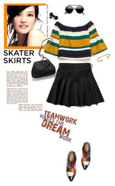 """""""Skater Girl ^TS"""" by rosie305 ❤ liked on Polyvore featuring Coach, Abercrombie & Fitch, Chanel and skaterskirt"""