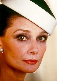 Audrey Hepburn in 1983, Paris.
