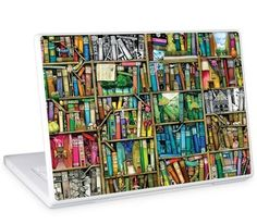 """GelaSkins Protective Skin for 13.3 & 14.1"""" PC and Mac Laptops - """"Bookshelf"""" by"""
