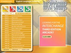 Interchange 4th Edition Arcade: Cambridge University Press - Intro Level Menu
