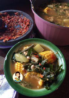 Sayur Asem Bumbu Uleg – Cooking with Sheila Indonesian Recipes, Indonesian Food, Main Menu, Ramen, Meals, Drink, Cooking, Ethnic Recipes, Kitchen