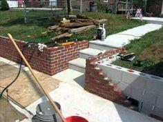 10 Lucky Clever Tips: Backyard Garden Walkway Grass backyard garden decor tutorials.Backyard Garden Vegetable To Get mini backyard garden yards. Concrete Patios, Brick Patios, Concrete Fence, Backyard Fences, Fenced In Yard, Front Yard Landscaping, Yard Fencing, Patio Fence, Garden Fences