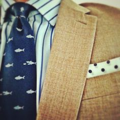 Perfect Color and Pattern Combination.  Scale and Pattern selection makes your look.