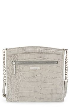 Halogen® Halogen 'Pine Street' Croc Embossed Leather Crossbody Bag available at #Nordstrom