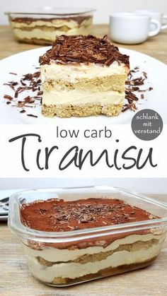 Tiramisu faible teneur en glucides - mince avec l& - Low Carb Dessert // Low Carb Nachtisch - Best Low Carb Recipes, Gourmet Recipes, Snack Recipes, Dinner Recipes, Free Recipes, Dessert Recipes, Keto Snacks, Seafood Recipes, Yummy Recipes