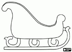Christmas sleigh for decorate coloring page - bjl
