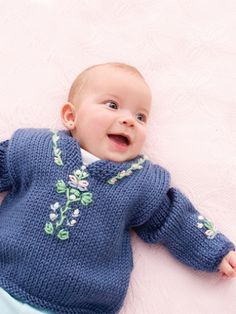 Baby Folkwear Caftan | Yarn | Free Knitting Patterns | Crochet Patterns | Yarnspirations
