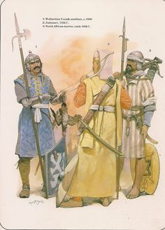 century troops by McBride Historical Art, Historical Costume, Historical Pictures, Military Art, Military History, Turkish Army, Medieval Clothing, Monster Art, 15th Century