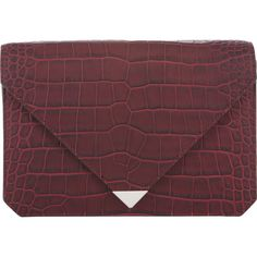 Alexander Wang Prisma Envelope Clutch ($259) ❤ liked on Polyvore featuring bags, handbags, clutches, clutches / wallets / purses, purses, colorless, red clutches, red crocodile handbag, clear handbags e alexander wang handbags