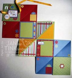 Squash Book - a card or mini scrapbook that folds into a nice booklet