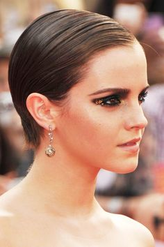 A short and slick 'do for Emma Watson