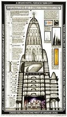 Hotel proyectado por Gaudi en la ciudad de New York pero nunca construído