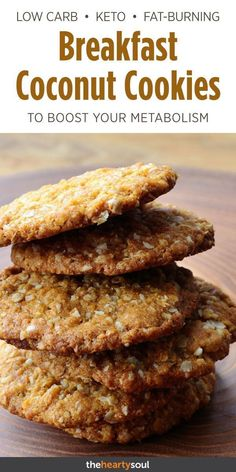 We never thought we would see these keto coconut cookies on a Fat Burning Foods list. but they are and here's the recipe! We never thought we would see these keto coconut cookies on a Fat Burning Foods list. but they are and here's the recipe! Keto Cookies, Healthy Cookies, No Sugar Cookies, Oatmeal Protein Cookies, Keto Oatmeal, Keto Peanut Butter Cookies, Chip Cookies, Vegan Gluten Free Cookies, Tasty Cookies