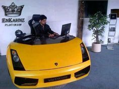 My future work station Lamborghini, Unusual Things, The Office, Cool Cars, Automobile, Vehicles, Creative, Find Cars, Beast